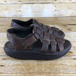 Skechers Leather Huarache Sandal Shape Ups Shoes